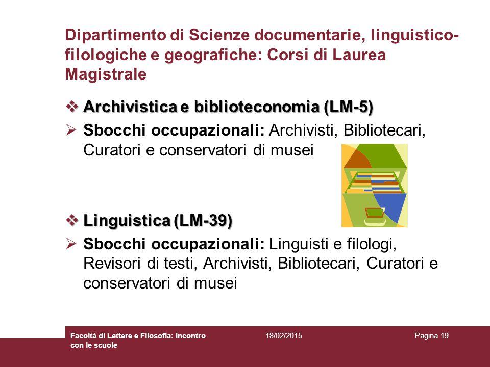 Archivistica e biblioteconomia (LM-5)