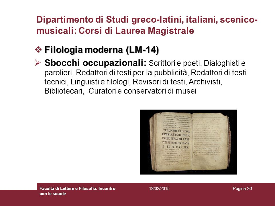 Filologia moderna (LM-14)
