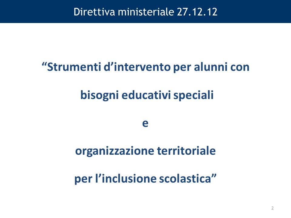 Direttiva ministeriale 27.12.12