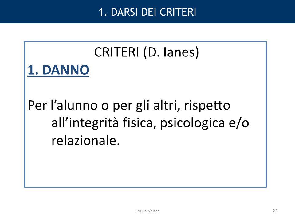 CRITERI (D. Ianes) 1. DANNO