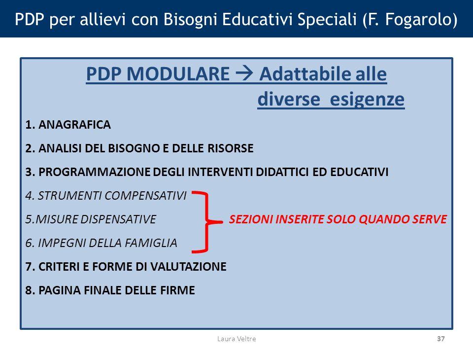 PDP per allievi con Bisogni Educativi Speciali (F. Fogarolo)