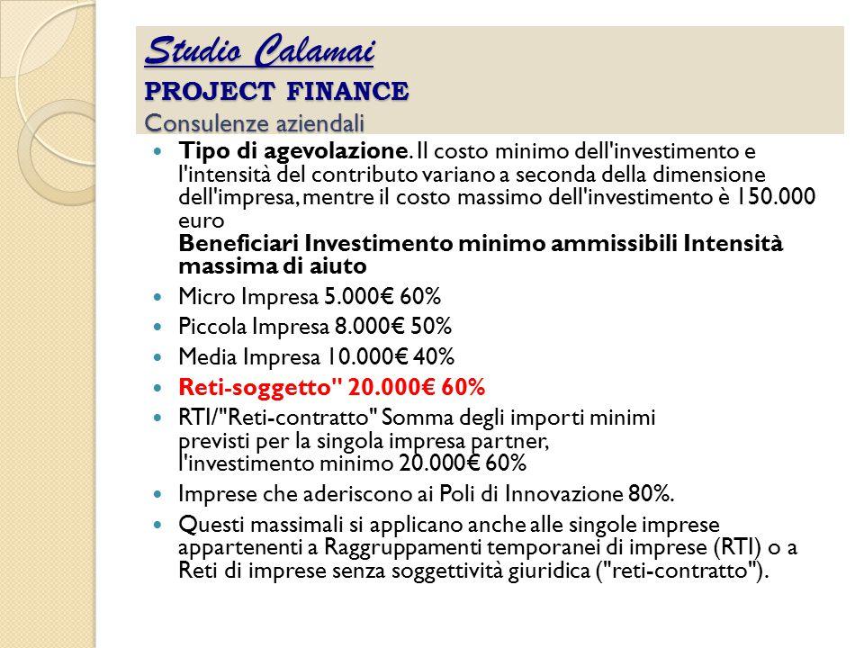 Studio Calamai PROJECT FINANCE Consulenze aziendali