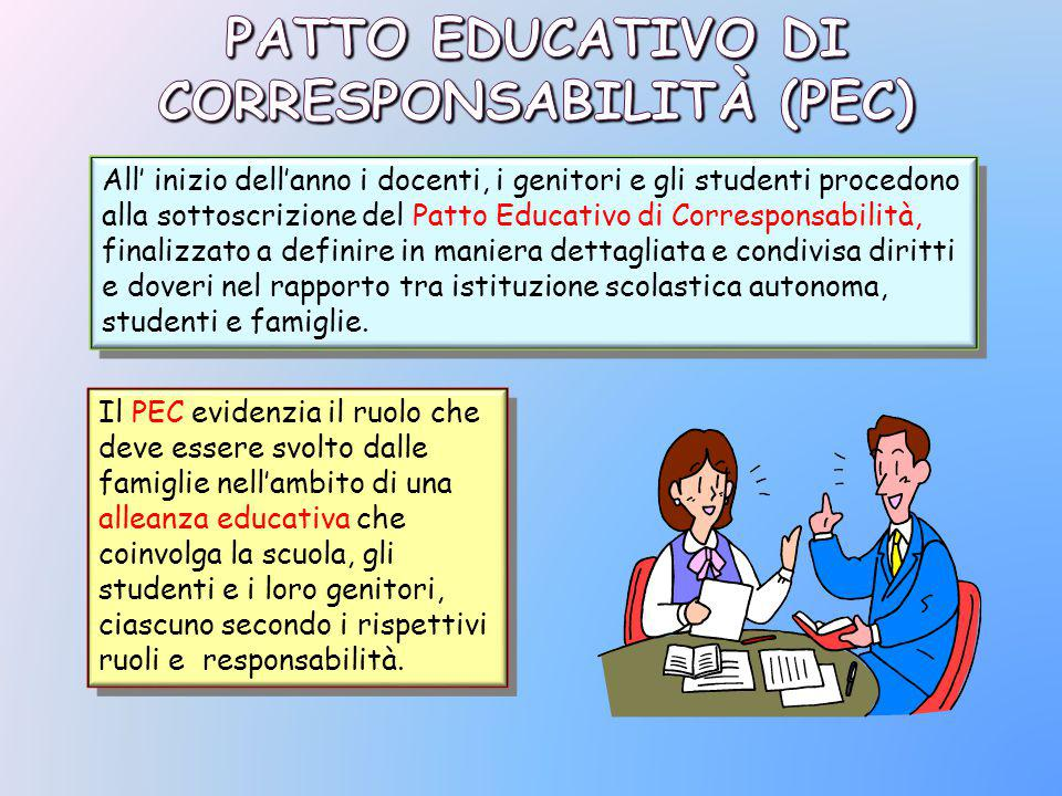 PATTO EDUCATIVO DI CORRESPONSABILITÀ (PEC)‏