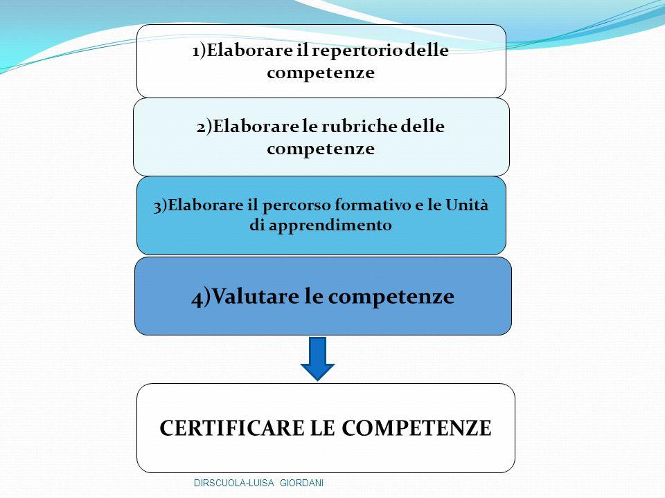 4)Valutare le competenze CERTIFICARE LE COMPETENZE