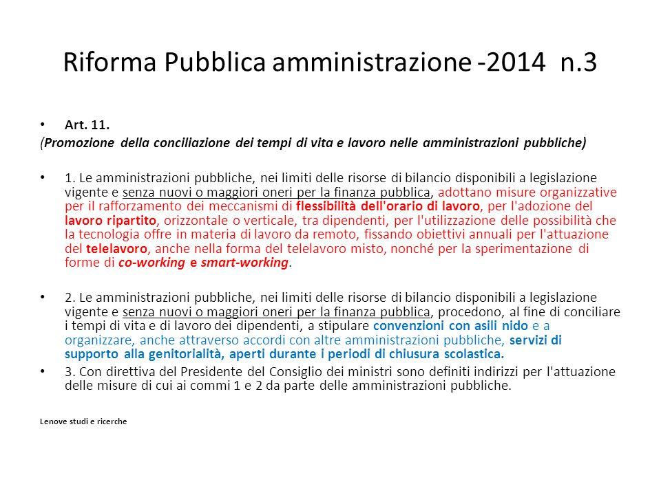 Riforma Pubblica amministrazione -2014 n.3