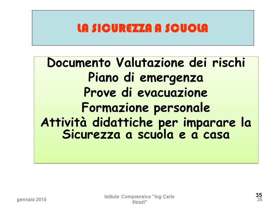 Documento Valutazione dei rischi Piano di emergenza