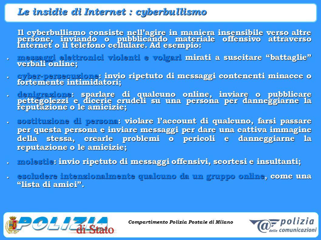 Le insidie di Internet : cyberbullismo