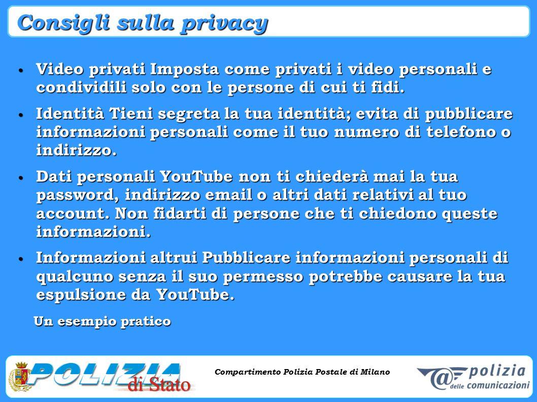 Consigli sulla privacy