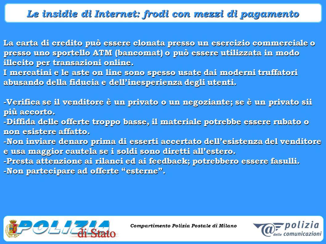 Le insidie di Internet: frodi con mezzi di pagamento
