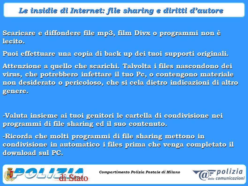 Le insidie di Internet: file sharing e diritti d'autore
