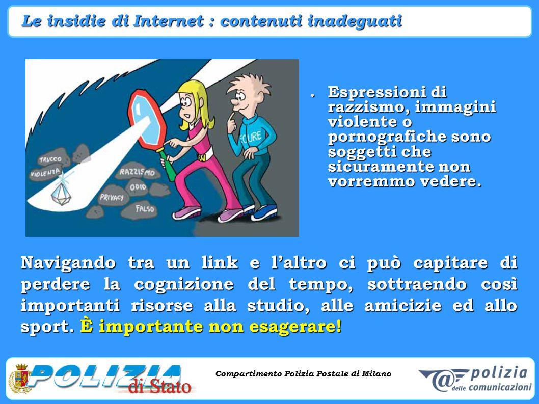 Le insidie di Internet : contenuti inadeguati