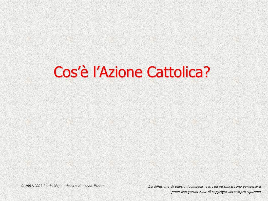 Cos'è l'Azione Cattolica