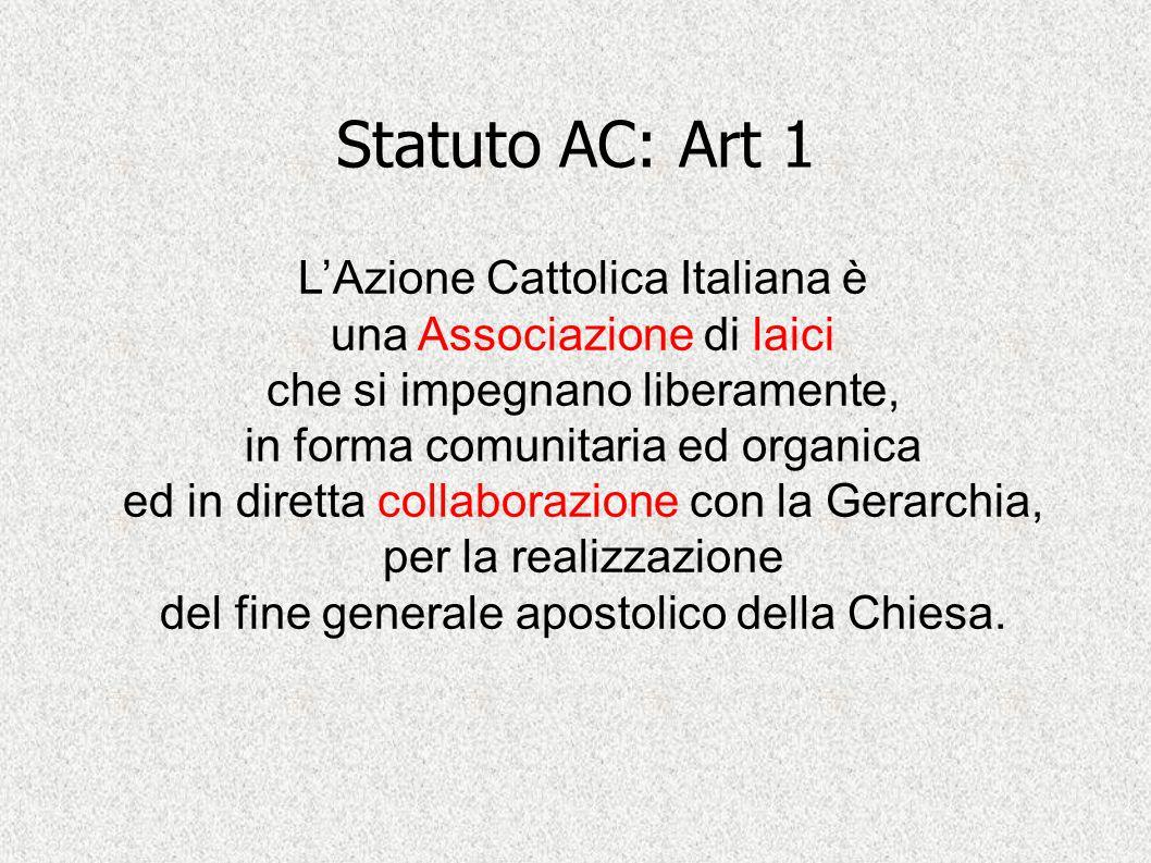 Statuto AC: Art 1 L'Azione Cattolica Italiana è