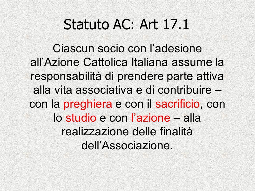 Statuto AC: Art 17.1