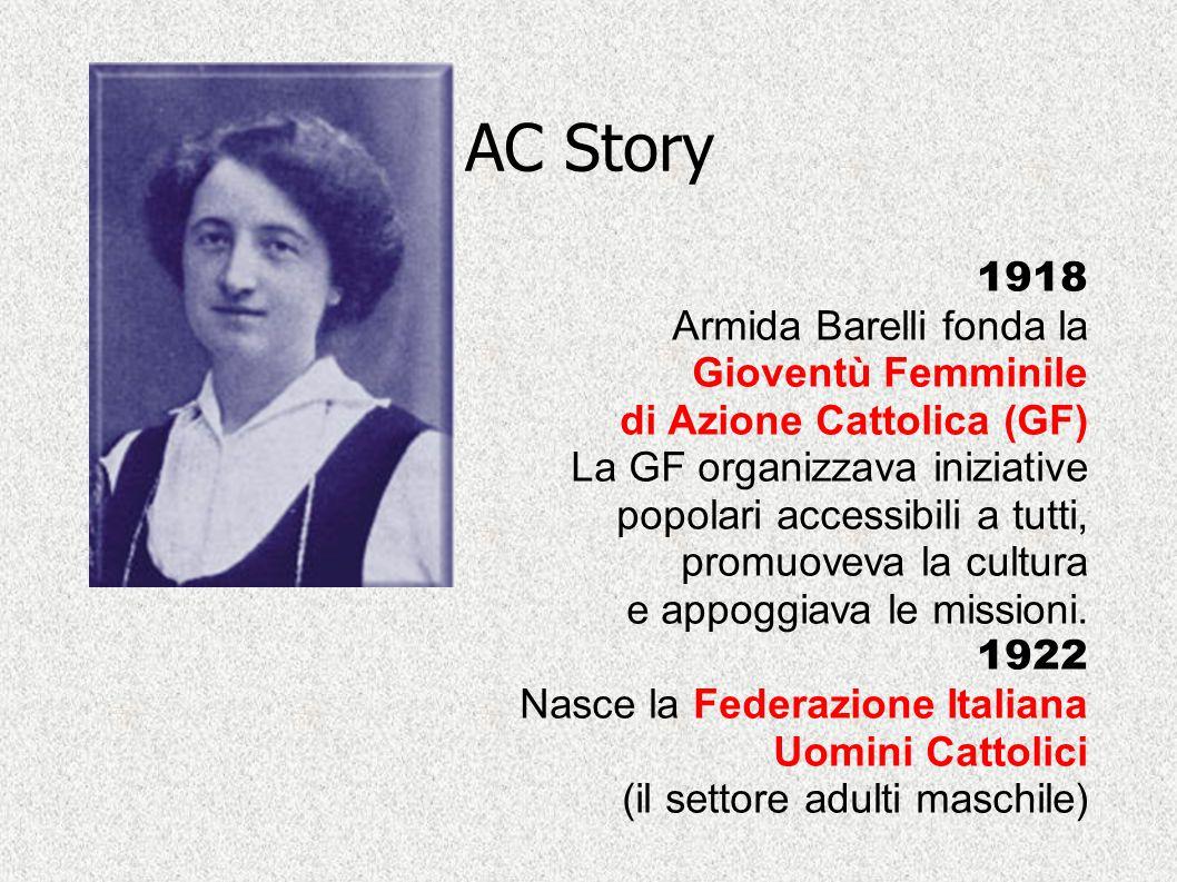 AC Story 1918 Armida Barelli fonda la Gioventù Femminile