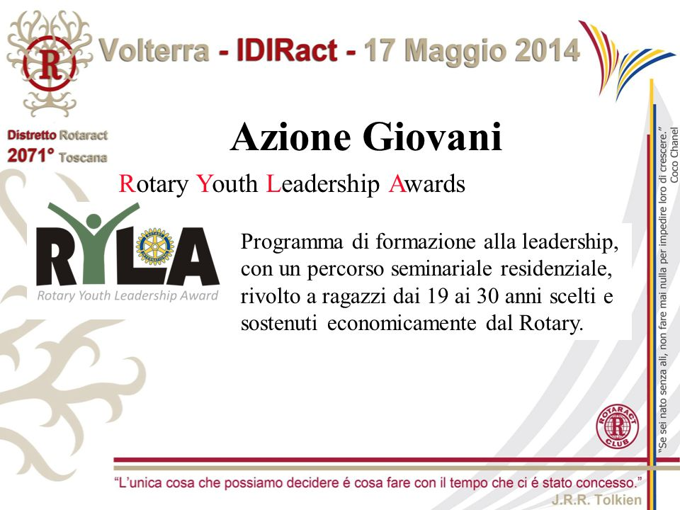 Azione Giovani Rotary Youth Leadership Awards
