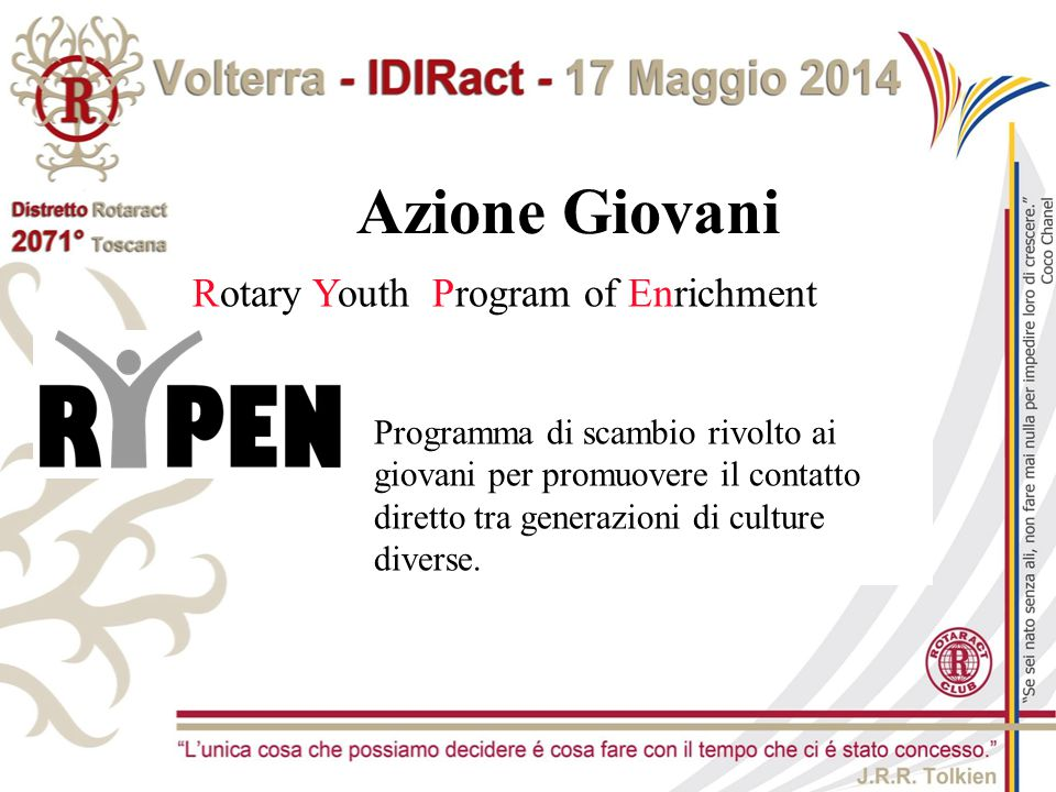 Azione Giovani Rotary Youth Program of Enrichment