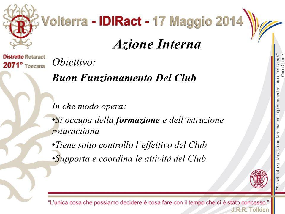 Azione Interna Obiettivo: Buon Funzionamento Del Club