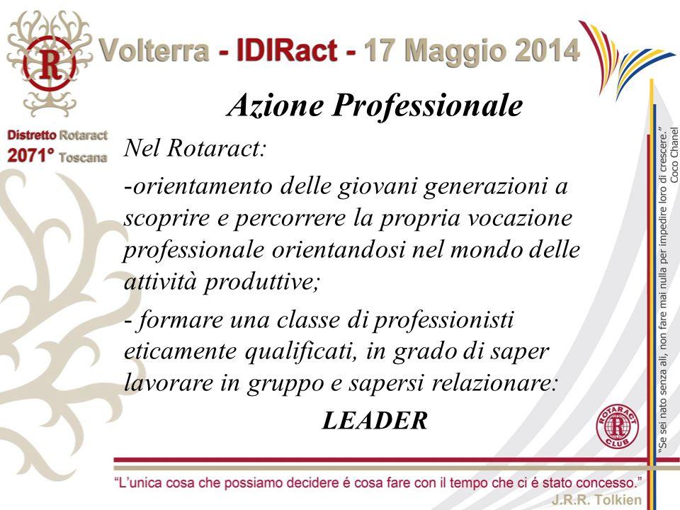 Azione Professionale Nel Rotaract: