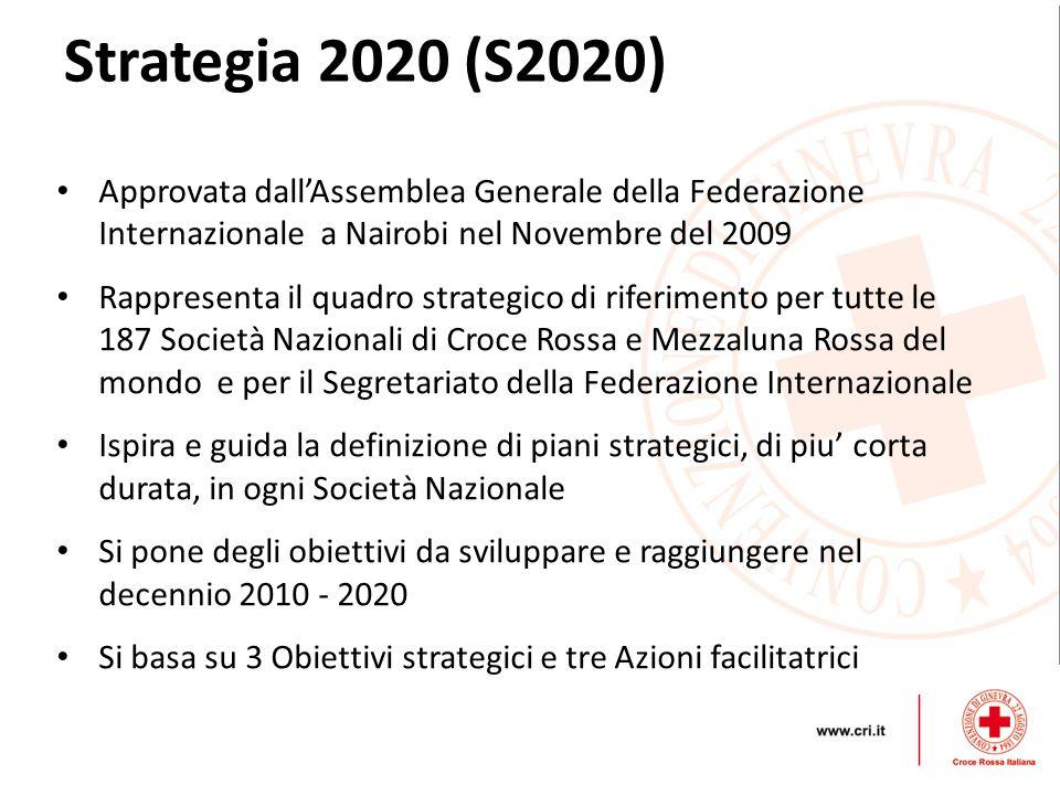 Strategia 2020 (S2020) Approvata dall'Assemblea Generale della Federazione Internazionale a Nairobi nel Novembre del 2009.