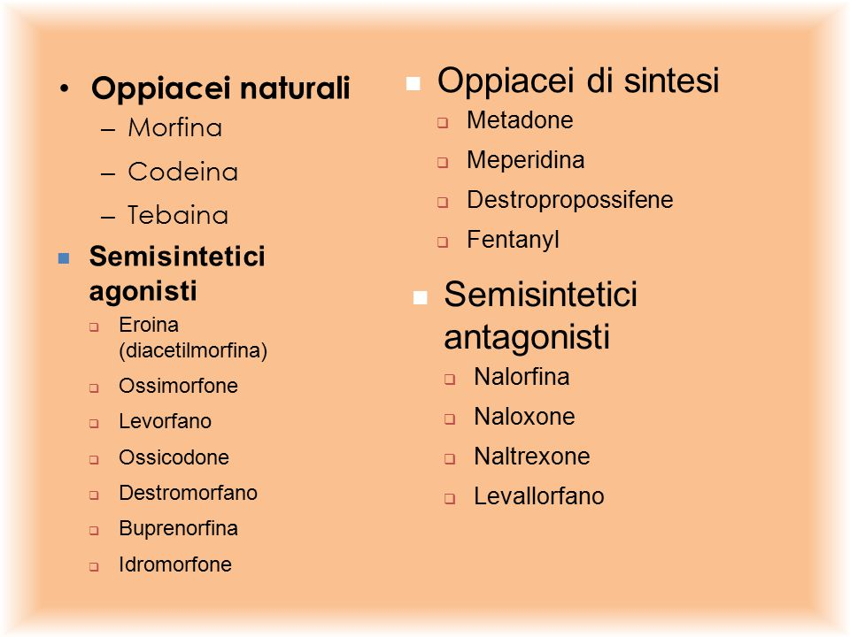 Semisintetici antagonisti