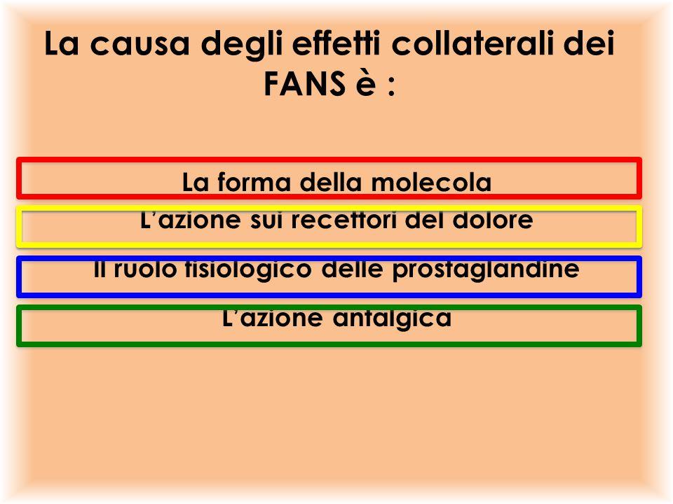 La causa degli effetti collaterali dei FANS è :