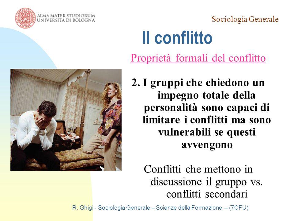 Il conflitto Proprietà formali del conflitto