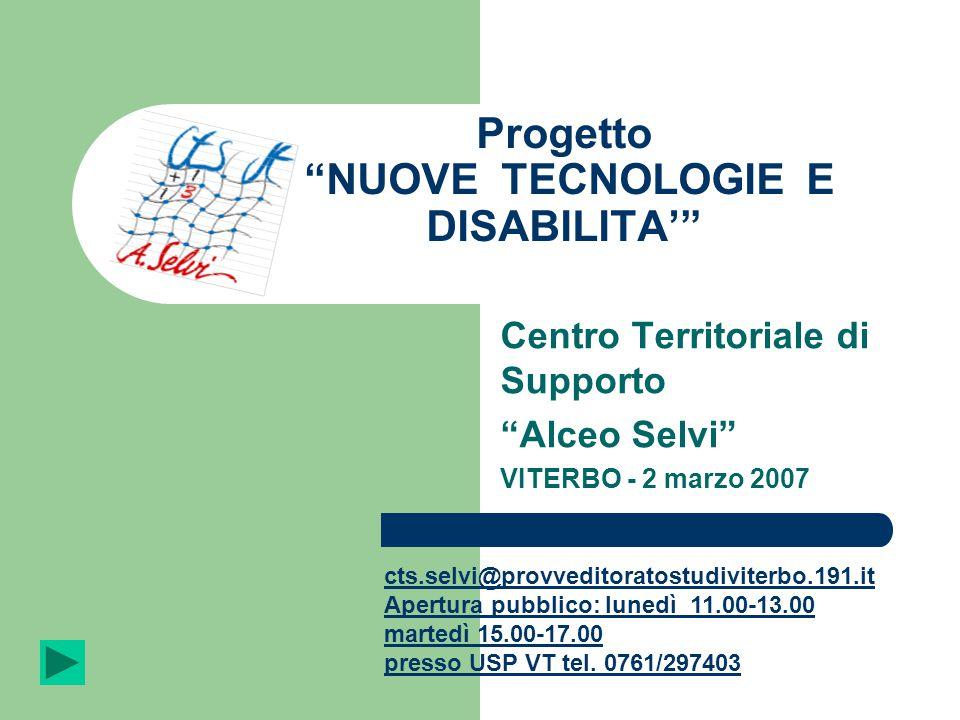 Progetto NUOVE TECNOLOGIE E DISABILITA'