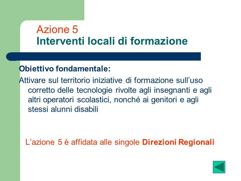 Azione 5 Interventi locali di formazione