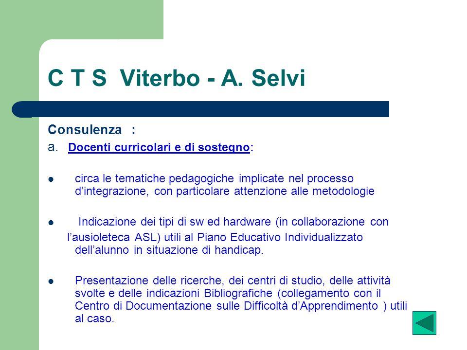 C T S Viterbo - A. Selvi Consulenza :