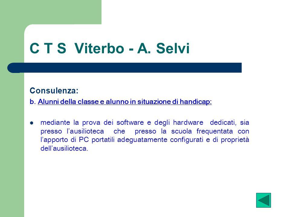 C T S Viterbo - A. Selvi Consulenza: