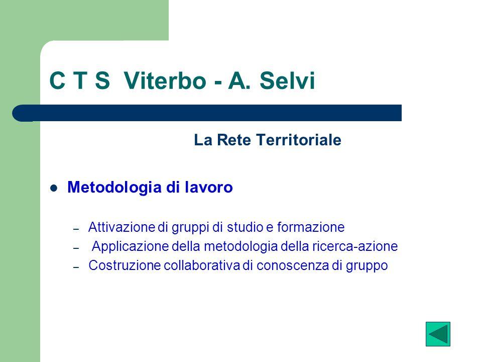C T S Viterbo - A. Selvi La Rete Territoriale Metodologia di lavoro
