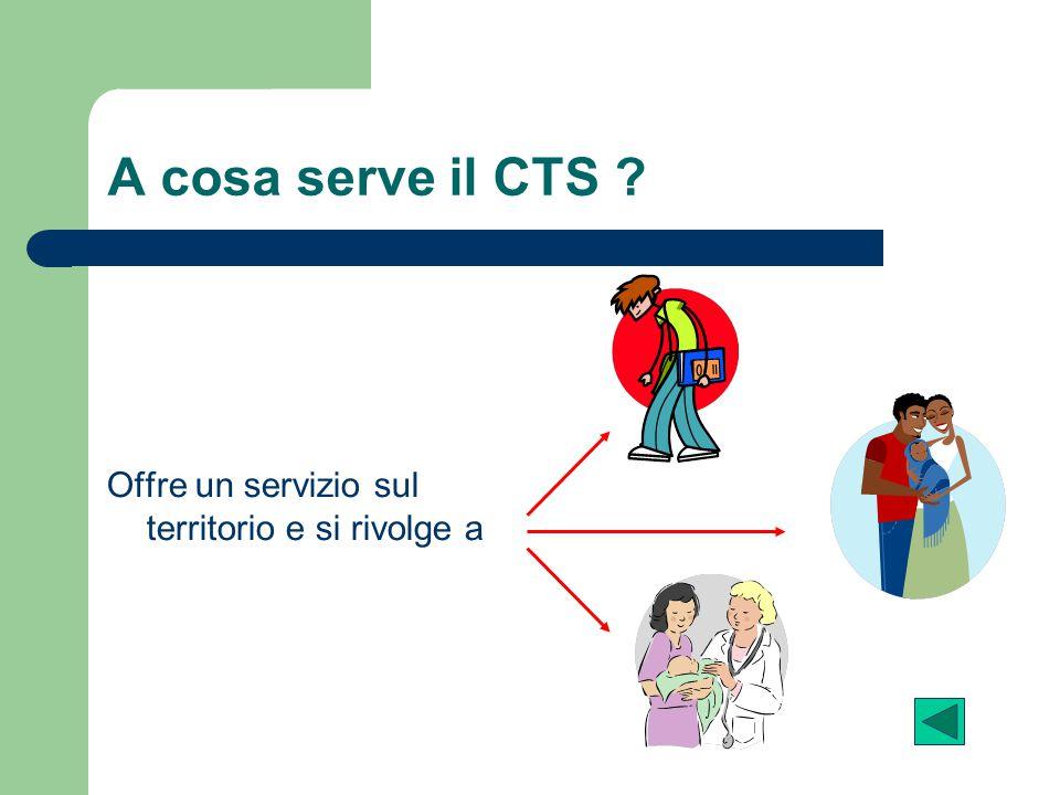 A cosa serve il CTS Offre un servizio sul territorio e si rivolge a