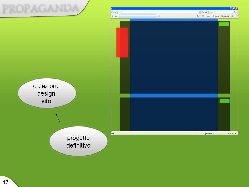 creazione design sito progetto definitivo 17