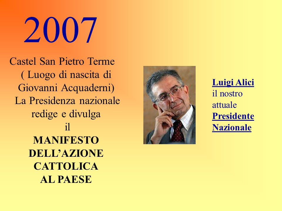MANIFESTO DELL'AZIONE CATTOLICA