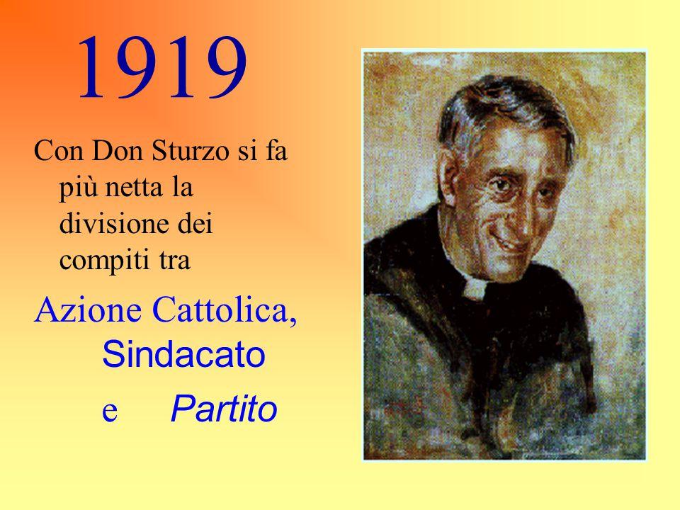 1919 Azione Cattolica, Sindacato e Partito