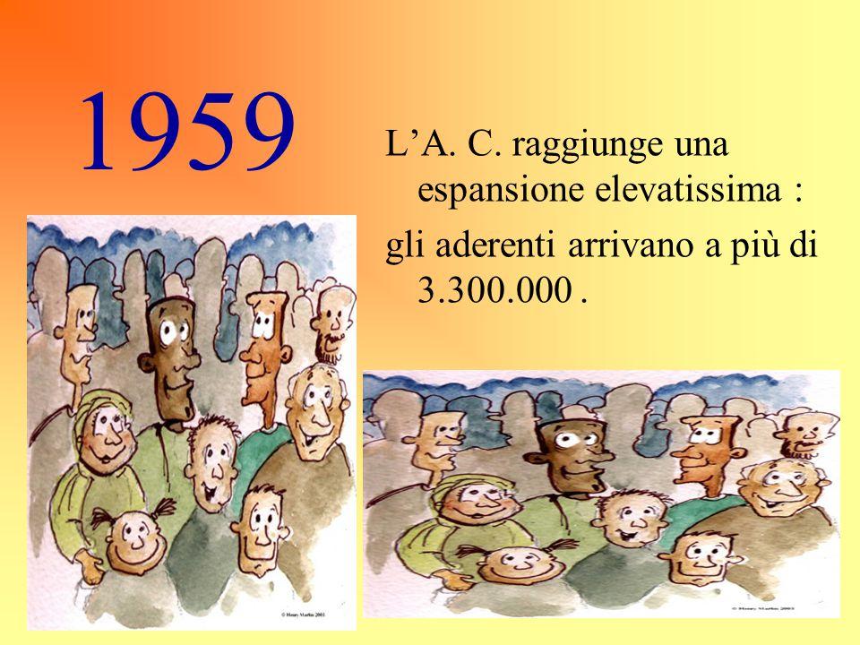 1959 L'A. C. raggiunge una espansione elevatissima :