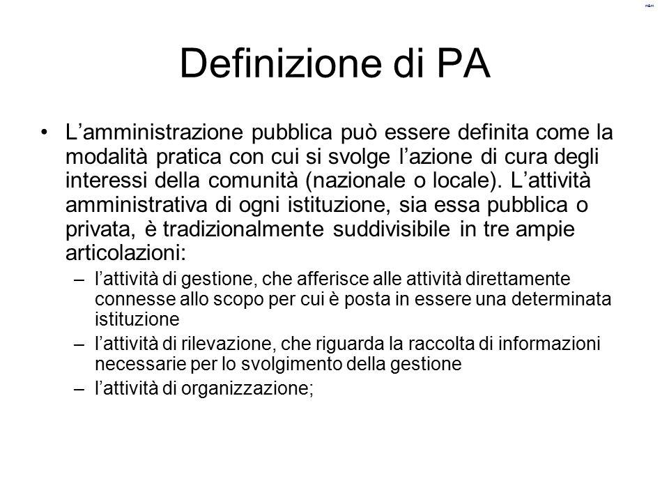 Definizione di PA