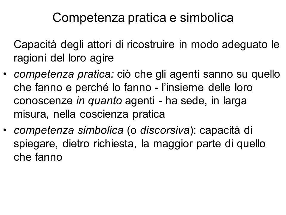 Competenza pratica e simbolica
