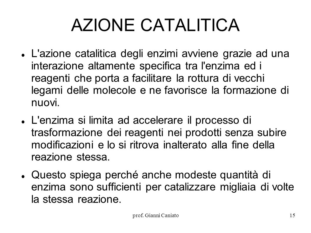 AZIONE CATALITICA