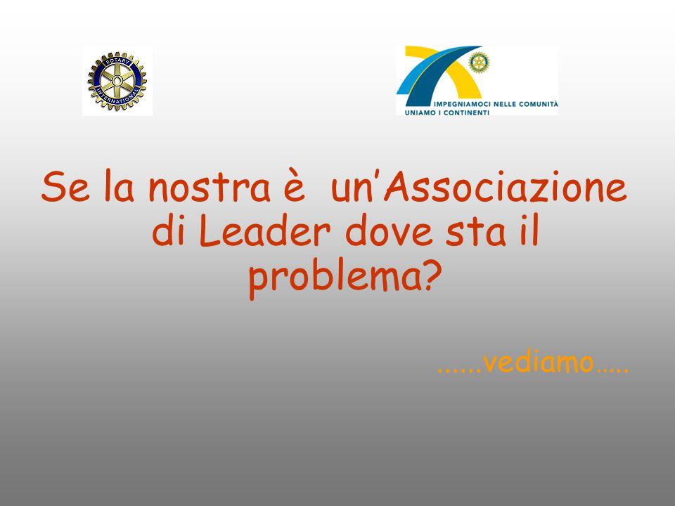 Se la nostra è un'Associazione di Leader dove sta il problema