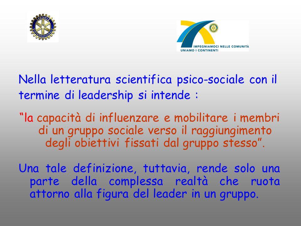 Nella letteratura scientifica psico-sociale con il