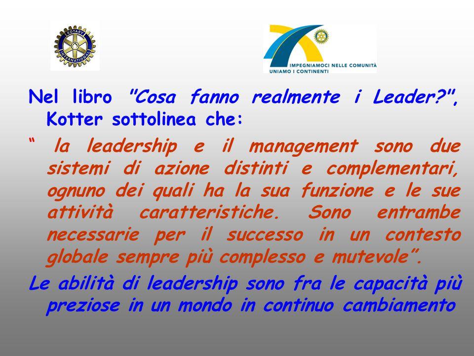 Nel libro Cosa fanno realmente i Leader , Kotter sottolinea che: