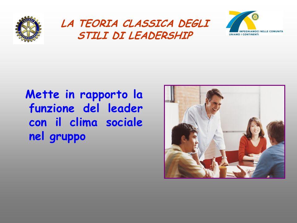 LA TEORIA CLASSICA DEGLI STILI DI LEADERSHIP
