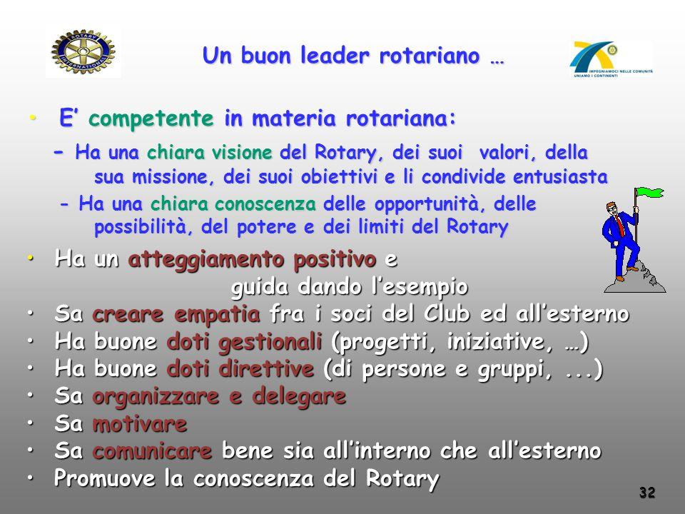 Un buon leader rotariano …