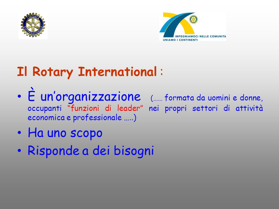 Il Rotary International :