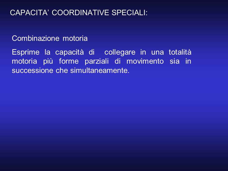 CAPACITA' COORDINATIVE SPECIALI: