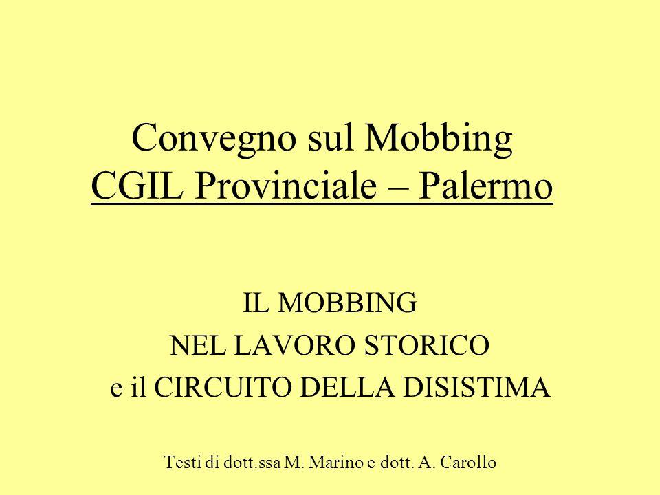 Convegno sul Mobbing CGIL Provinciale – Palermo