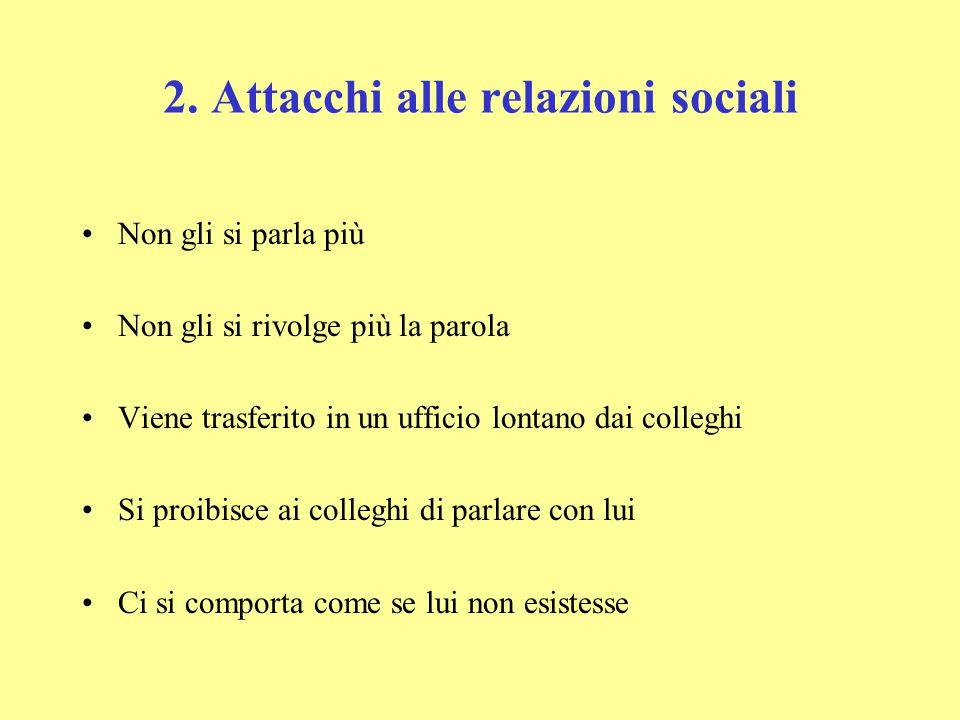 2. Attacchi alle relazioni sociali