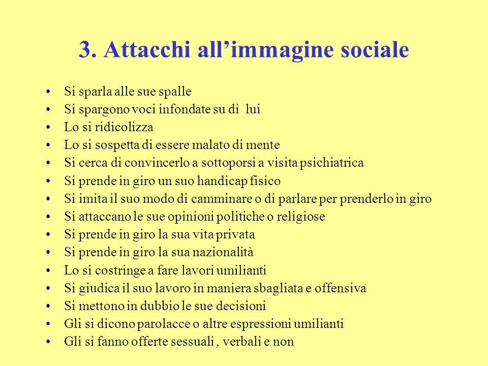 3. Attacchi all'immagine sociale